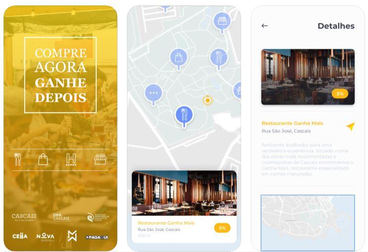 """APP """"Compre Agora, Ganhe Depois"""", uma APP de apoio ao comércio local. Disponível em iOS e Android."""